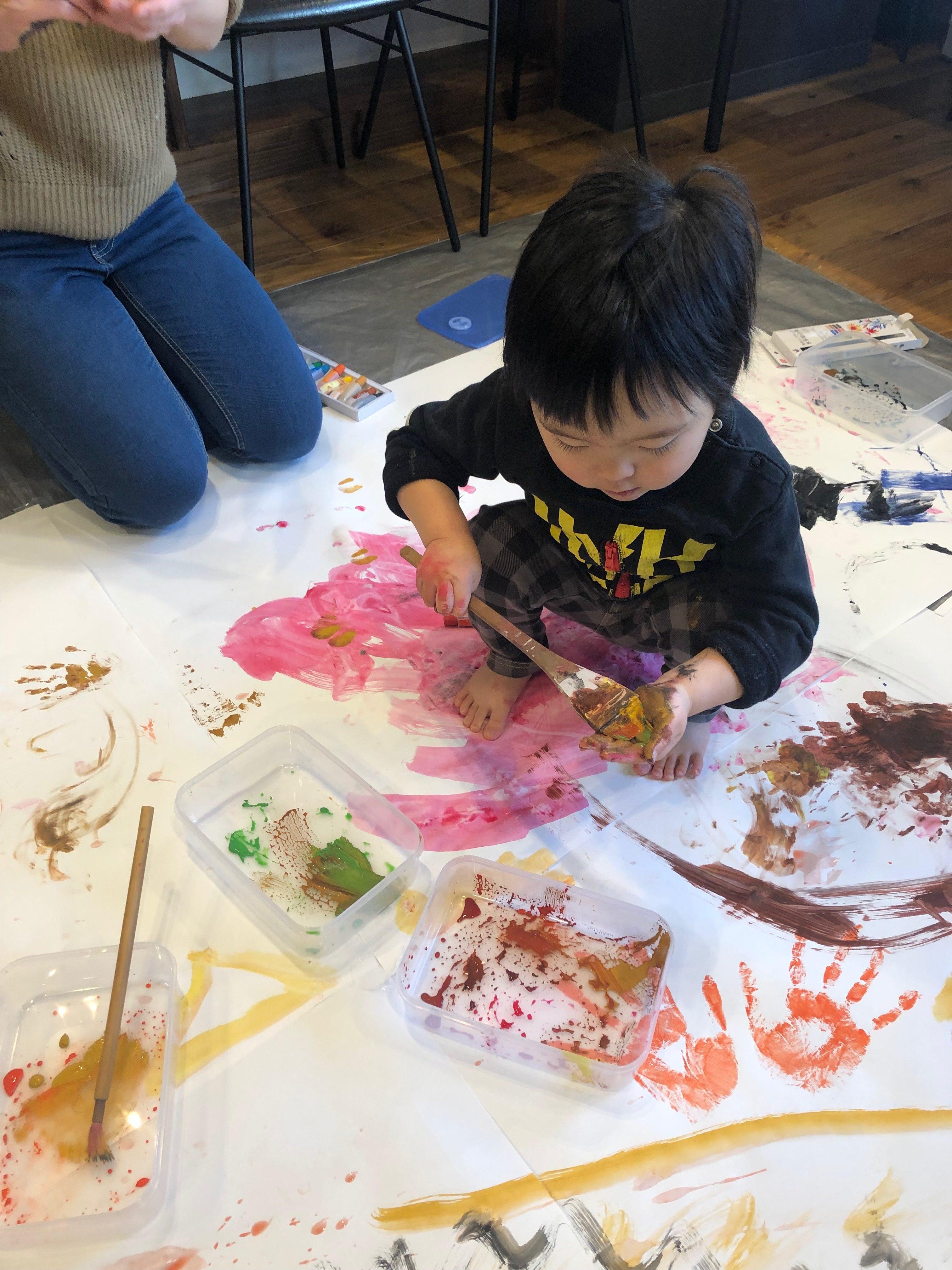 親子アート教室画像